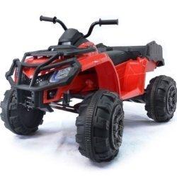 Полноприводный электроквадроцикл Grizzly Next Т009МР красный (резиновые колеса, кожаное кресло, пульт, музыка)