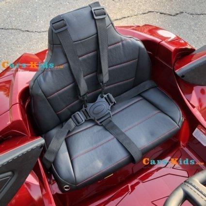 Электромобиль Lykan Hypersport QLS 5188 красный (задний привод, колеса резина, кресло кожа, пульт, музыка)